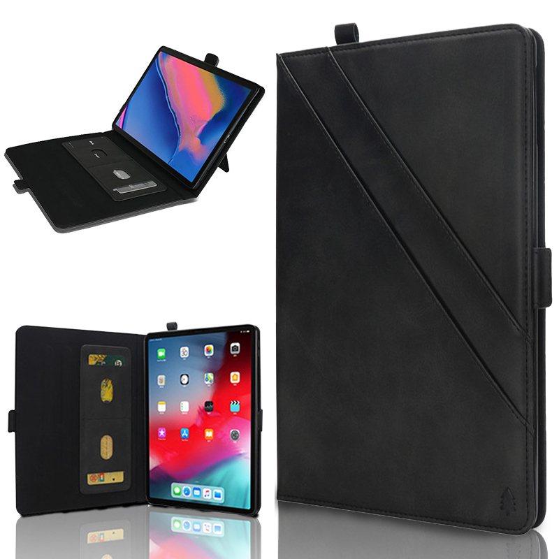 Double Support Cover For Samsung Galaxy Tab A 8.0 2018 Case T387 SM-T387W SM-T387V PU Leather Card Wallet Tab A 8 2018 Case Capa