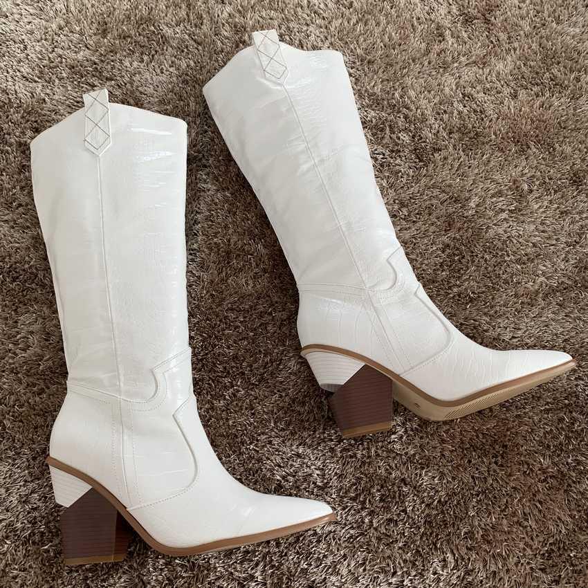 9.5CM Topuklu kadın Diz-yüksek Çizmeler Deri Kış Ayakkabı Kadın Kürk Kar Botları Bayan Takozlar Çizme Bayan uyluk Yüksek Çizmeler Chaussure