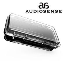 AUDIOSENSE wodoodporny futerał do przenoszenia słuchawek twarda przenośna walizka podróżna futerał ochronny na słuchawki