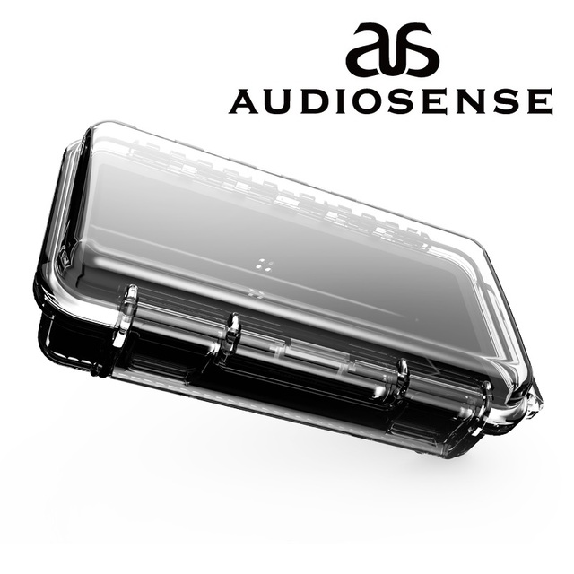 AUDIOSENSE 방수 이어폰 운반 케이스 하드 여행 휴대용 케이스 보호 케이스 이어폰 상자