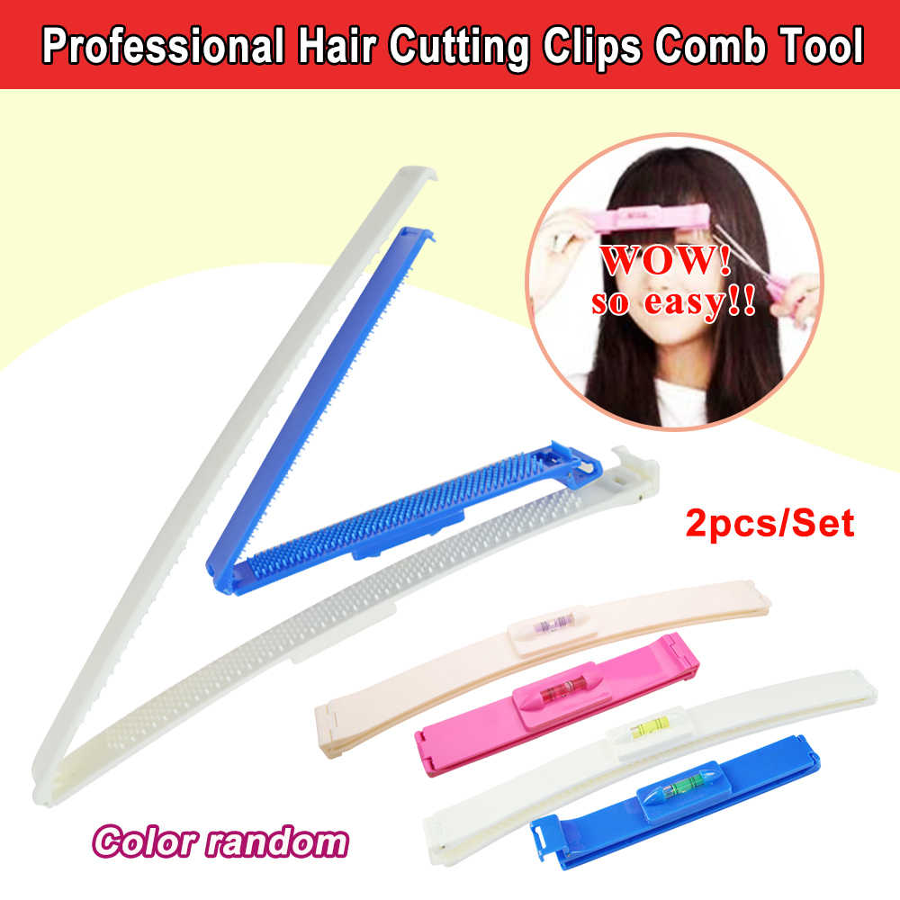 Professional Hair Cutting Clips Comb Tool Trim Bangs Hairstyle Fringe Women