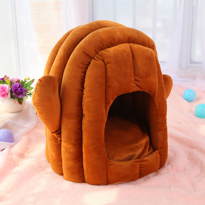 Pet Dog Bed Kennel Puppy Bed Doghouse Pet Warm Bed For Small Puppy Dogs Mat Washable Dog Bed Winter Warm Houses For Puppy Dog 7