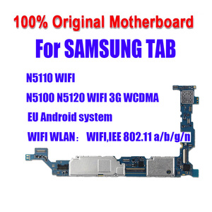Image 1 - 100% Tested Motherboard 16GB Unlocked For Samsung Galaxy N5100 / N5110 N5120 Mainboard With Chips Logic Board Android System