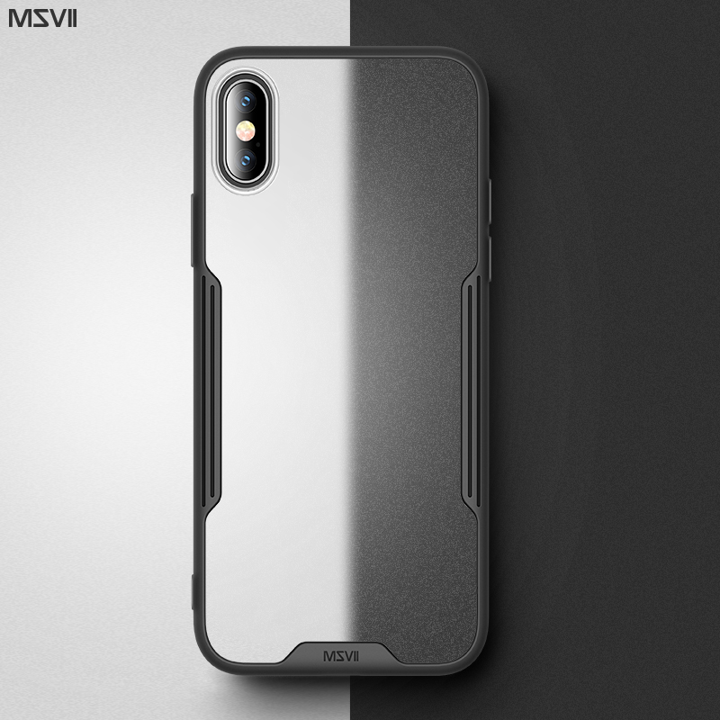 Msvii <font><b>Armor</b></font> Cover <font><b>for</b></font> <font><b>iPhone</b></font> XR <font><b>Case</b></font> Transparent <font><b>for</b></font> <font><b>iPhone</b></font> <font><b>X</b></font> <font><b>Case</b></font> Silicone <font><b>for</b></font> <font><b>iPhone</b></font> <font><b>Xs</b></font> <font><b>Max</b></font> <font><b>Case</b></font> Luxury <font><b>Xs</b></font> Cover Slim Fundas image