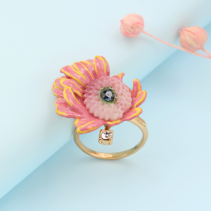 Plaqué or exagération grand anneau bague femme index bague style européen et américain station vent plage