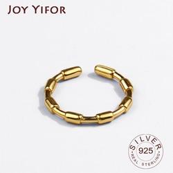 Hoge Kwaliteit 925 Sterling Silver Wedding Ring Klassieke Ronde Bamboe Vinger Ring Vrouwen Bruiloft Engagement Sieraden Gift