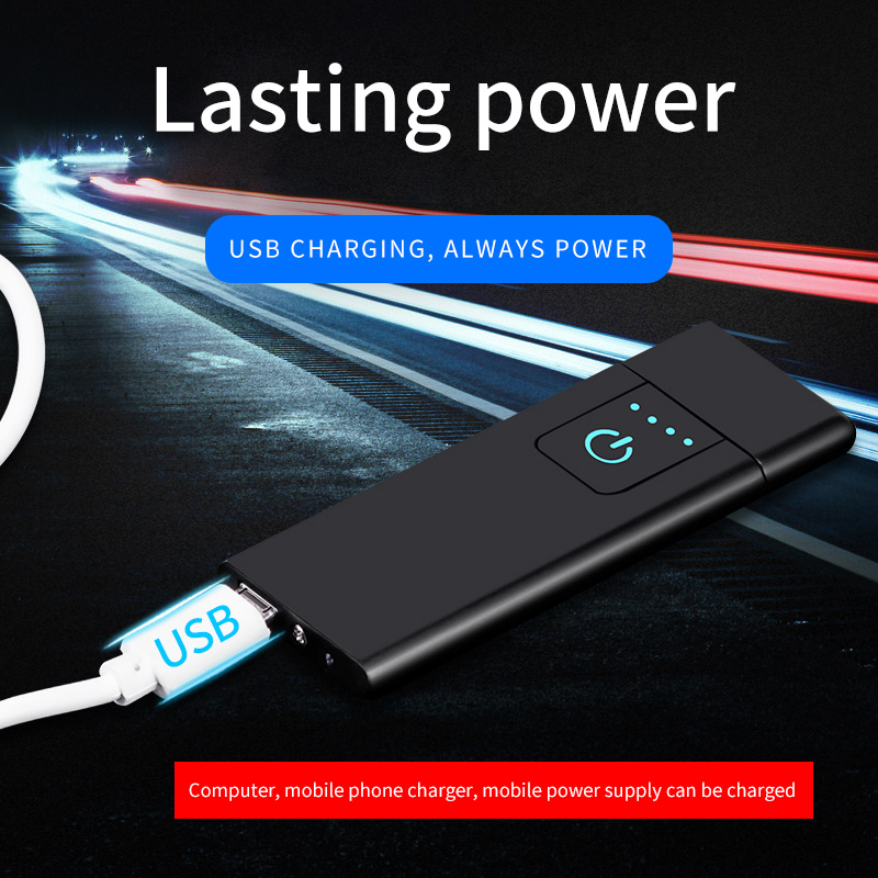 USB Lighter Electronic Charging Cigarette Lighters Accessories Car Rechargeable With Gift Box