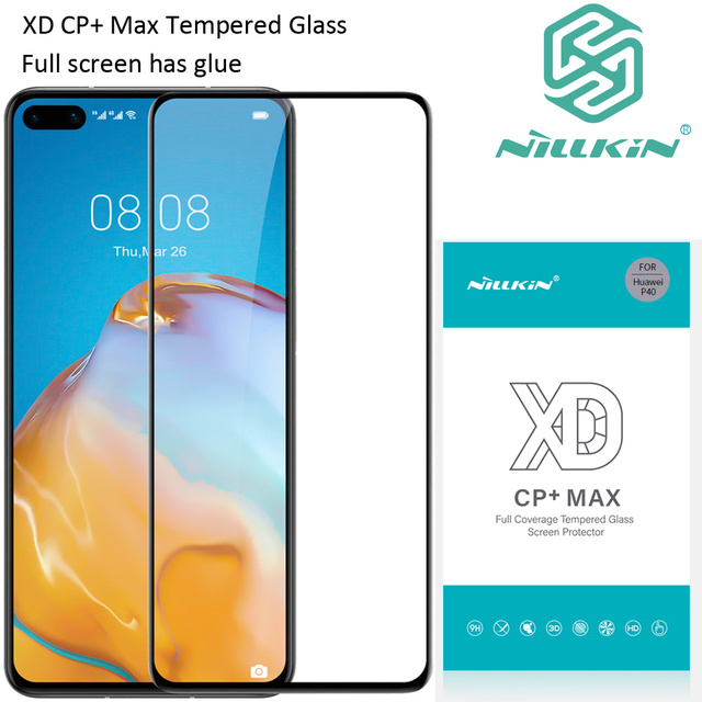 Nillkin XD CP+ Max Tempered Glass For Huawei P40 Protective oleophobic Full Screen glue
