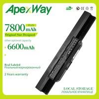 Apexway 6600mAh bateria do asus A32 K53 A42 K53 K53F K53J K53S K53SJ K53SV K53T K53U A43 A53 K43 X43 X44 X54 X84 K53 K53B K53E w Akumulatory do laptopów od Komputer i biuro na