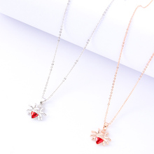 New Simple Spider Pendant Necklace Mens Punk Fashion Jewelry Clavicle Chain Party Exquisite Accessories