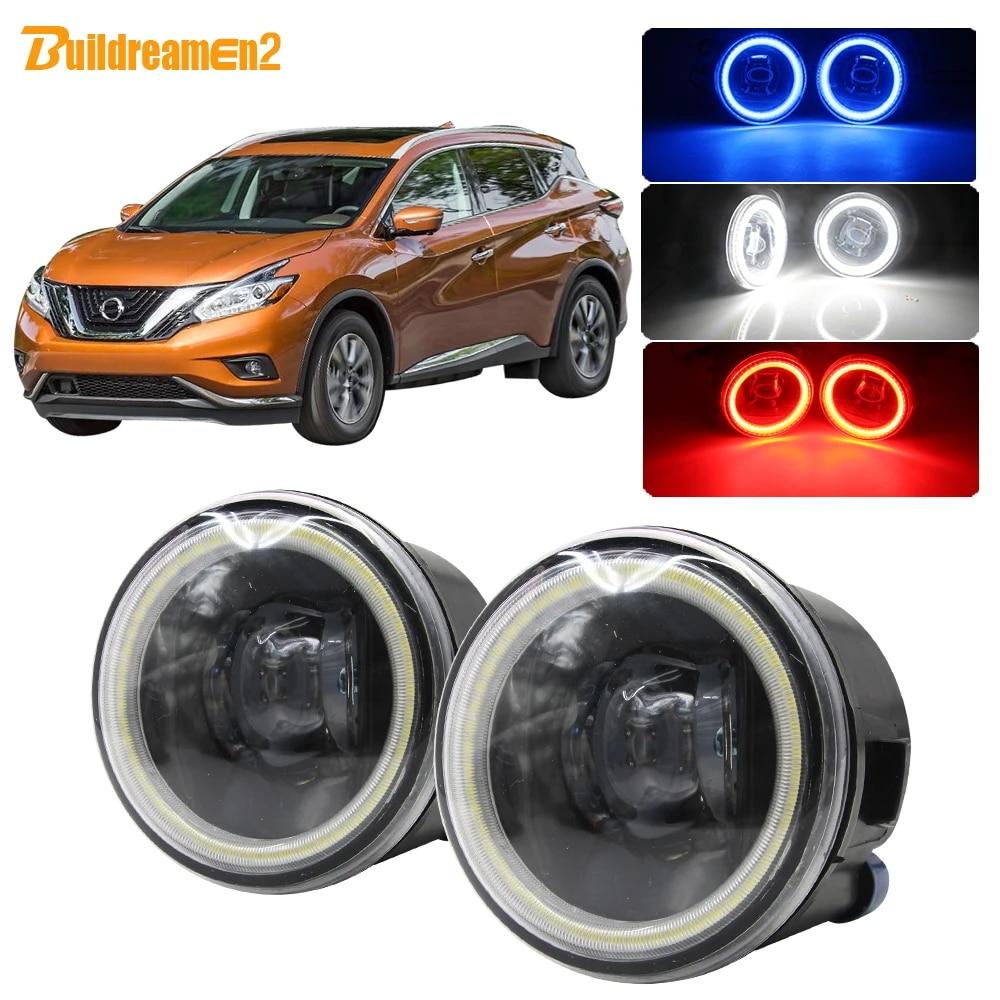 LED Fog Light Kit Angel Eye Ring DRL Daytime Running Lamp Fit For Nissan X-trail