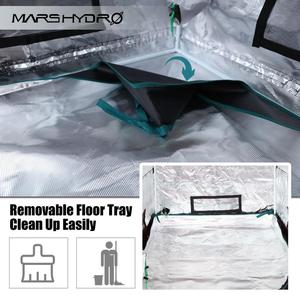 Image 4 - 1680D Mars Hydro 60x60x140cm LED Grow Tent box Indoor Hydroponics garden Water proof hut Diamond Reflective Mylar grow room