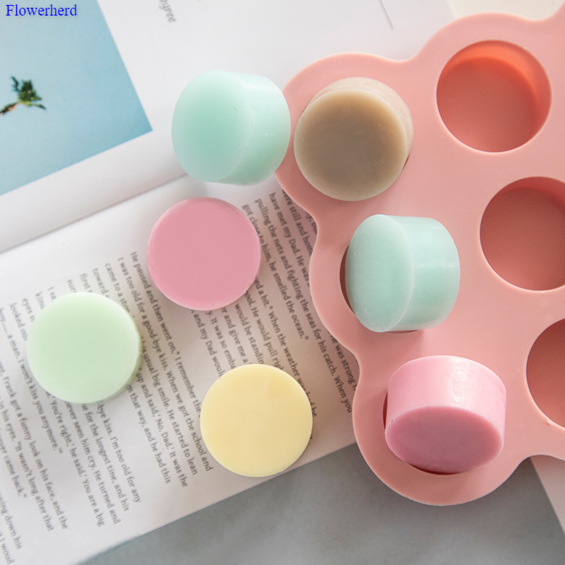 9 Cavities Cylindrical Mold Handmade Soap Silicone Mold DIY Cake Chocolate  Mold Silicone Liquid Crafts Cake Making Tools