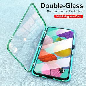 Image 2 - 360 магнитные поглощающие флип чехлы для телефонов Samsung Galaxy A51 A21s A71 A70 A30s A50, задняя крышка на Samsun A 71 A 51, Магнитный чехол