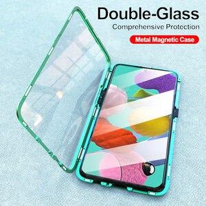 Image 2 - 360 cas de téléphone à rabat dadsorption magnétique pour Samsung Galaxy A51 A71 A70 A30s A50 couverture arrière sur Samsun A 50 A 71 A 51 aimant de boîtier