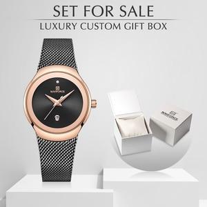 Женские часы NAVIFORCE, топ-бренд, женские модные простые кварцевые часы, женские водонепроницаемые наручные часы с датой и роскошной коробкой д...