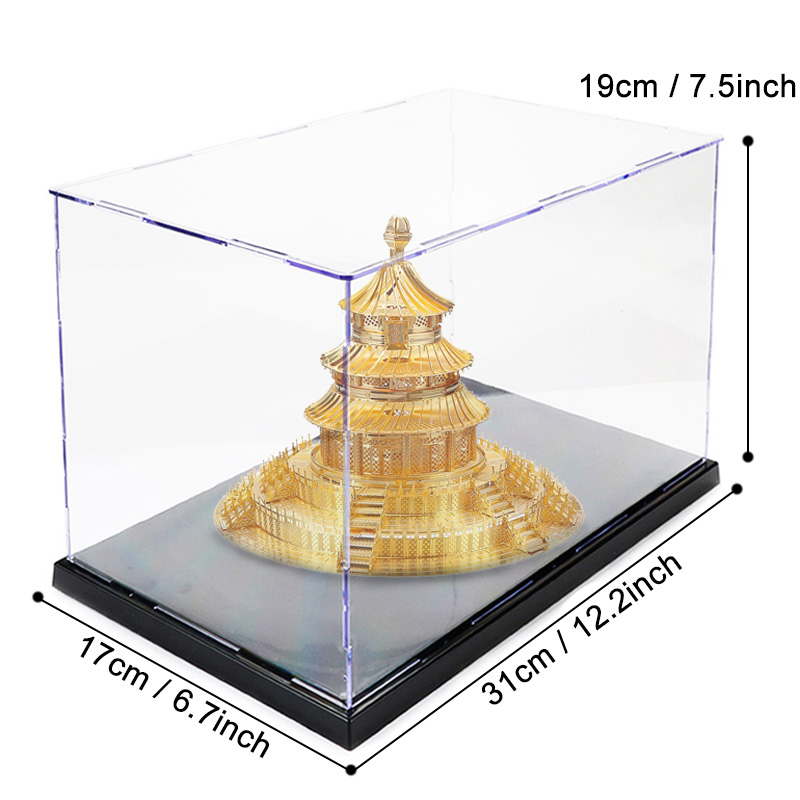 DIY Display Case Toy Acrylic Showcase Box Toy Plastic Dust-Proof Display Box Collectibles Storage Box Decoration Toys For Kids