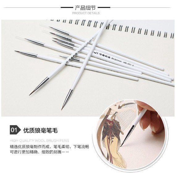 3 Pcs Watercolor Oil Art Paint Brush Nail Art Painting Brush Self Moistening Calligraphy Pen Claborate-style Painting AHB021