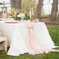 30x305cm Hochzeit Weiß Chiffon Tisch Läufer Tischdecke Abdeckung Stuhl Schärpe Party Decor Stuhl Schärpe Party Decor Bankett stuhl Schärpe