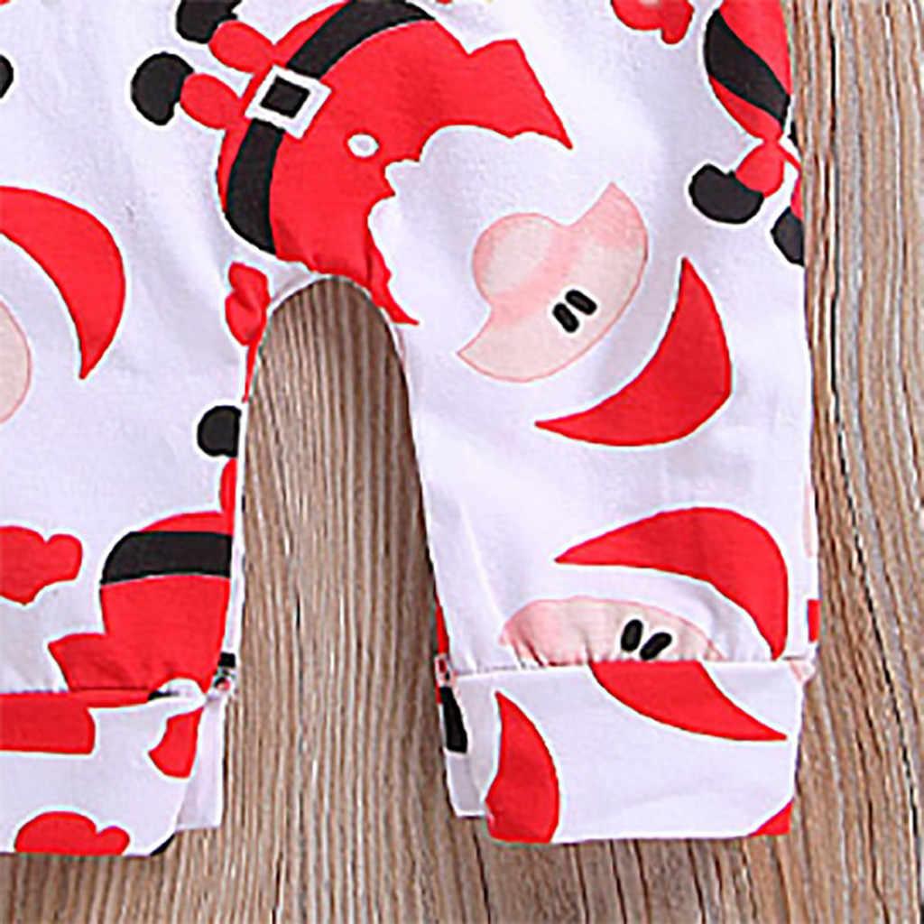 クリスマスベビーロンパースの印刷サンタクロースクリスマスサンタ新年 2020 新生児衣装子供冬服 19Oct