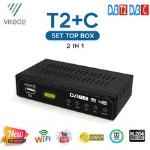Gorący sprzedawanie w rosji DVB T2 + C odbiornik TV H 264 wsparcie youtube USB WIFI DVB T2 Tuner TV DVB C dekoder cyfrowa telewizja HD Tuner TV tanie tanio VMADE CN (pochodzenie) ANALOG DVB T2 DVB C support WIFI no support H 265 support H 264
