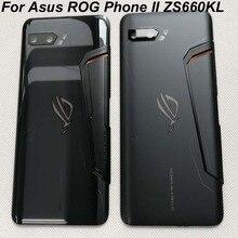 "Carcasa trasera para Asus ROG Phone II ZS660KL, cristal 3D, carcasa trasera para batería + lente de cristal para ASUS_I001D I001DA I001DE 6,59"""