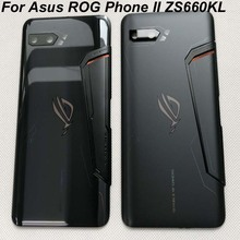 "Original New For 6.59"" Asus ROG Phone II ZS660KL 3D Glass Back Battery Cover Housing+Glass Lens For ASUS_I001D I001DA I001DE"
