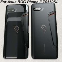 "Orijinal yeni 6.59 ""Asus ROG telefon II ZS660KL 3D cam arka pil kapağı konut + cam Lens ASUS_I001D I001DA I001DE"