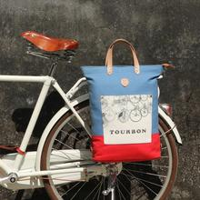 Tourbon Vintage Mode Fietstas Pannier Pouch Bike Rear Seat Carrier Fietsen Tassen Pack Waxed Waterafstotend Canvas