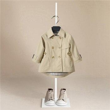 Winter Jackets Boys Solid Woolen Double-breasted Baby Boy Trench Coat Lapel Kids Outerwear Coats  Boy Windbreaker  Clothes