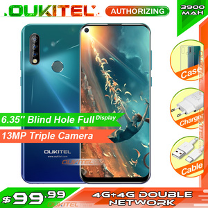 Image 1 - OUKITEL C17 פרו 6.35 19:9 4GB RAM 64GB ROM MT6763 Smartphone 13MP טביעות אצבע אוקטה Core אנדרואיד 9.0 4G נייד טלפון 3900mAh