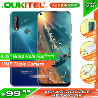 OUKITEL C17 Pro 6.35'' 19:9 4GB RAM 64GB ROM MT6763 Smartphone 13MP Fingerprint Octa Core Android 9.0 4G Mobile Phone 3900mAh|Cellphones| |  -