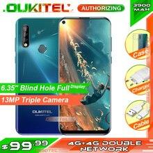 Oukitel smartphone c17 pro mt6763, telefone celular, tela de 6.35 , 19:9, 4gb ram, 64gb rom, 13mp, impressão digital, octa core, android 9.0 4g telemóvel 3900mah