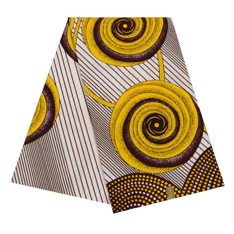 New Wax Fabric Yellow Print African Ankara Veritable Real Dutch Wax Real 6Yards