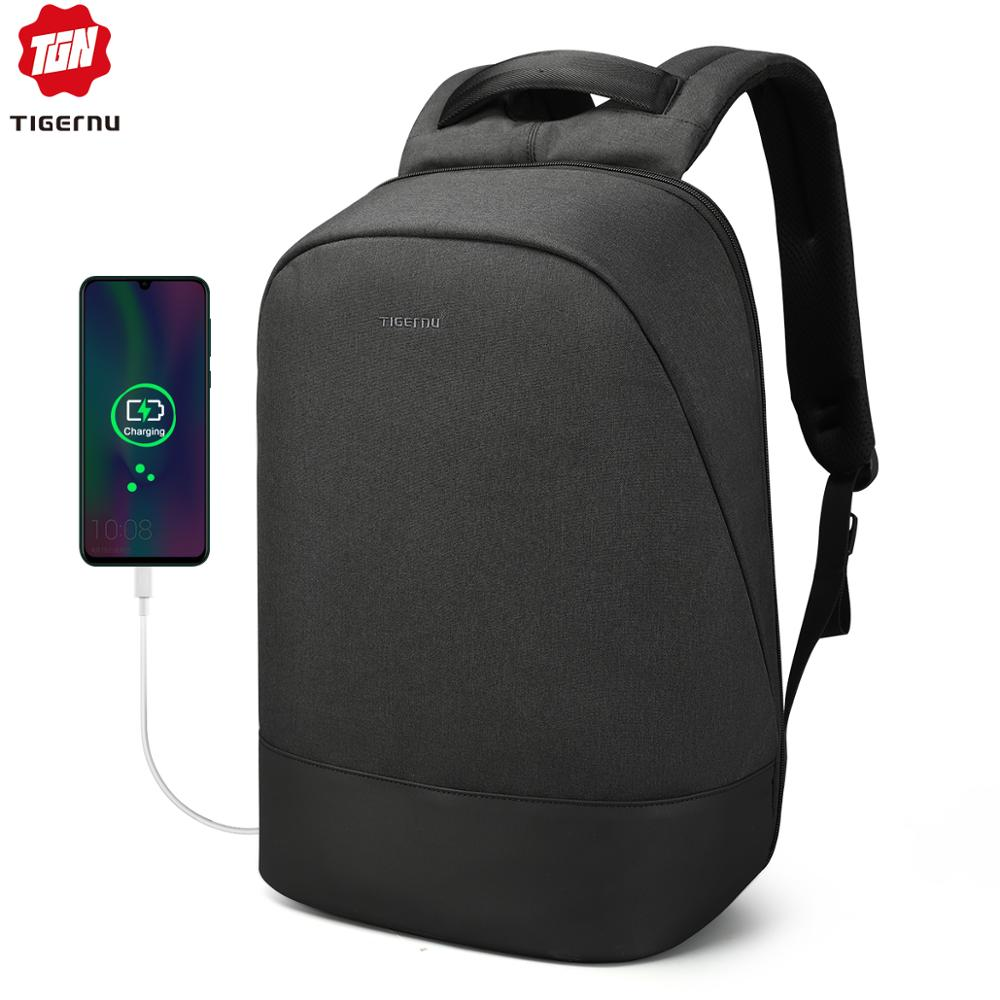 Travel Male Mochila School Backpack With USB Charging Port For Women Men Student Bag Bookbag Fits 15.6 Inch Laptop And Notebook