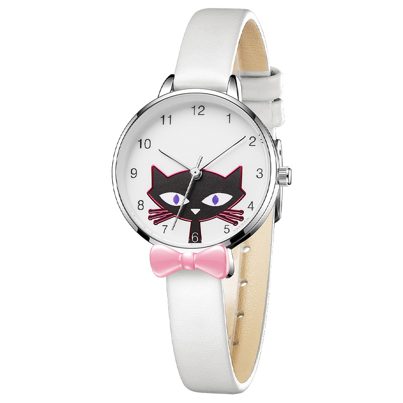 2019 KDM Watch Girl Cartoon Animal Little Fox Leather Strap Cute Watches Kids Waterproof Lovely Children Gift Quartz Wristwatch
