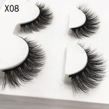 Extension Eyelash Mink-Lashes Beauty Makeup Natural LTWEGO 3D Long for 3D-X08 3-Pairs