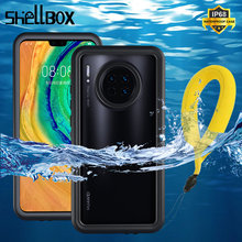 Shell box IP68 방수 케이스 Huawei Mate 30 20 Pro Funda 방수 360 보호 커버 Mate 30Pro P30 Pro 케이스용, 화웨이 메이트 30 20 프로 케이스용