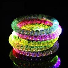 1PCS Night Toys Stars Shine In The Dark Kids Toy Luminous Bracelet Flash LED Cartoon Lights Glow In The Dark Kids Toys Gift E glow in the dark silicone bracelet transparent yellow pink 100 pcs