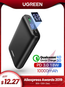 Ugreen Power-Bank Mobile-Battery QC3.0 Fast-Pd-Charger External Mini 10000mah iPhone 11