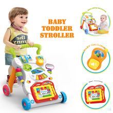 Multifunctional baby walker trolley early education exercise limb with music toy training