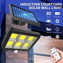 160 cob solar luzes de rua ao ar livre segurança iluminação da lâmpada parede à prova dwaterproof água movimento pir sensor controle inteligente lâmpada led lâmpadas solares