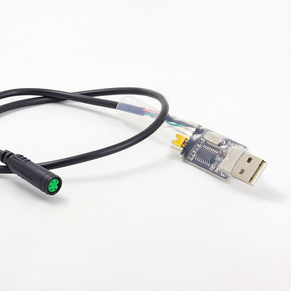 Onature Ebike USB Programming Cable for 8fun Bafang BBS01 BBS02 BBS03 BBSHD Mid Drive Motor Electric Bicycle Accessory in Electric Bicycle Accessories from Sports Entertainment