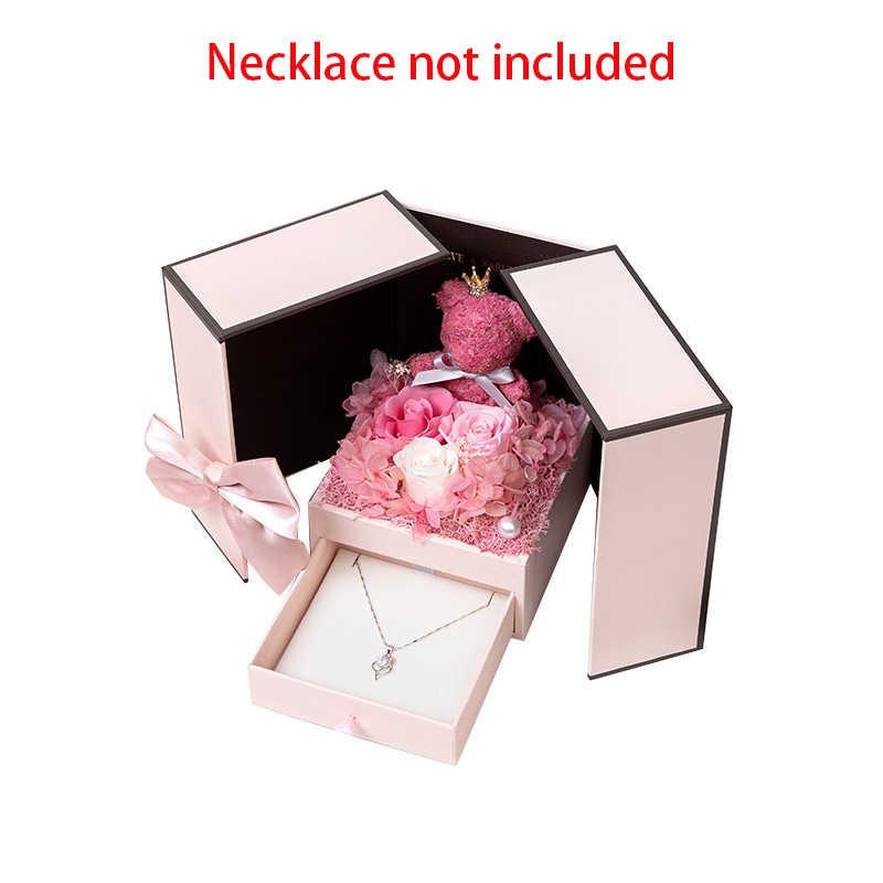 2020 presente do dia dos namorados urso de pelúcia rosa caixa de presente de duas portas presente de aniversário namorada esposa dia das mães aniversário natal gif