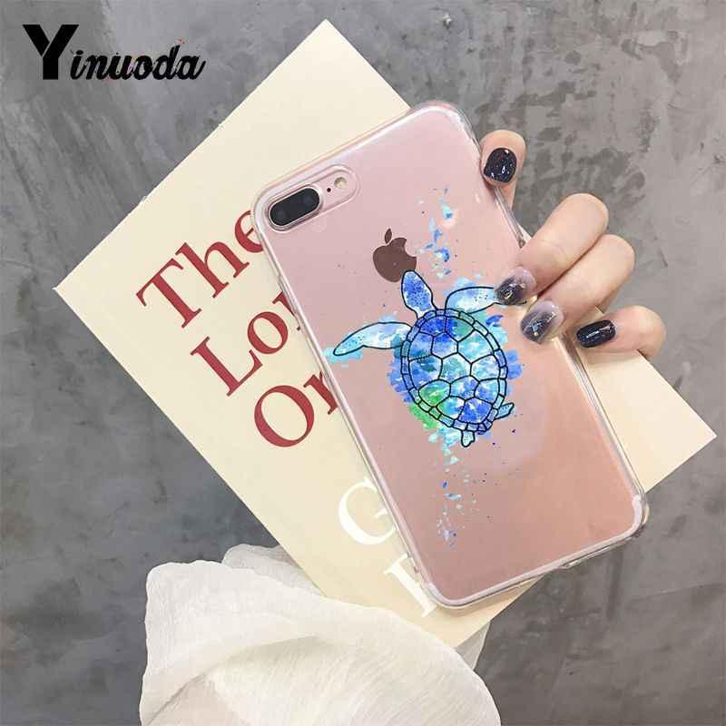 Yinuoda зеленый синий Черепаха Животное Новое поступление телефон Ультратонкий чехол для iPhone 8 7 6 6S Plus X XS max 10 5 5S SE XR Coque Shell