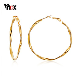 Vnox Trendy Large Hoop Earrings for Women Gold Color Earing Stainless Steel Circle Earrings Female Jewelry oorbellen