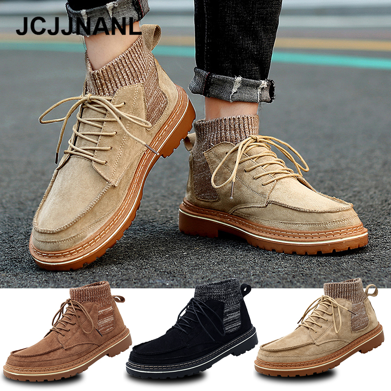 Hot Sale Winter Boots Men Leather Boots Warm Comfortable Men Winter Shoes High Top Leather Ankle Boots Men's