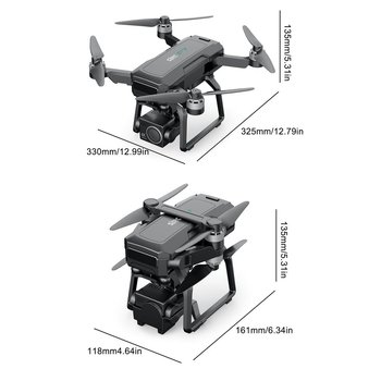 F7 4K Drone PRO Three-axis Mechanical Gimbal 4K Aerial Camera Brushless Motor Four-axis Aircraft With Storage Bag 6