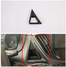 Z włókna węglowego ABS samochód przednia deska rozdzielcza trójkąt światła ostrzegawcze switchCover tapicerka pasuje do Ford Transit 2017 Ford Tourneo Custom 2016