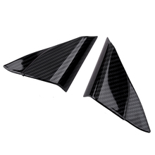 Beler 2 قطعة سيارة الداخلية الباب الأمامي A عمود المثلث الغلاف تريم غطاء تقليم صالح لتويوتا كامري 2018 2020 ألياف الكربون الملمس